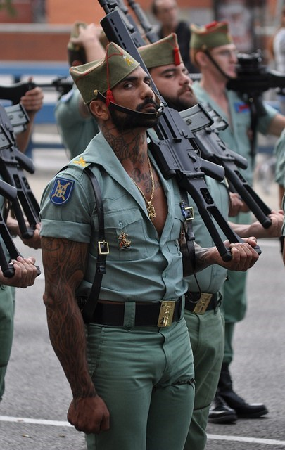 guns,uniforms,spanish,wtf,tattoos