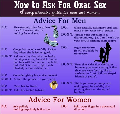 oral simple sexytime advice men vs women
