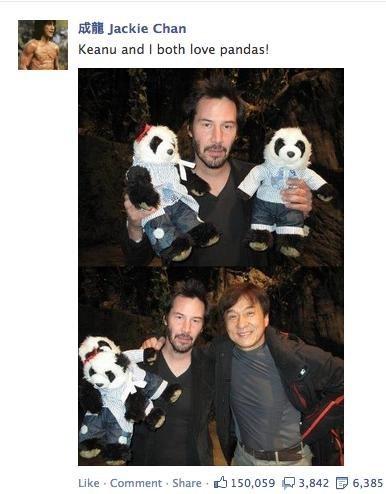 keanu reeves,panda,Jackie Chan