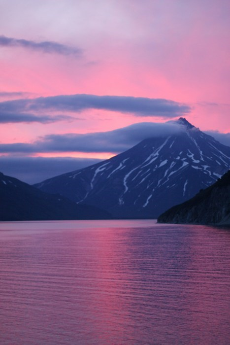 pink,landscape,mountain