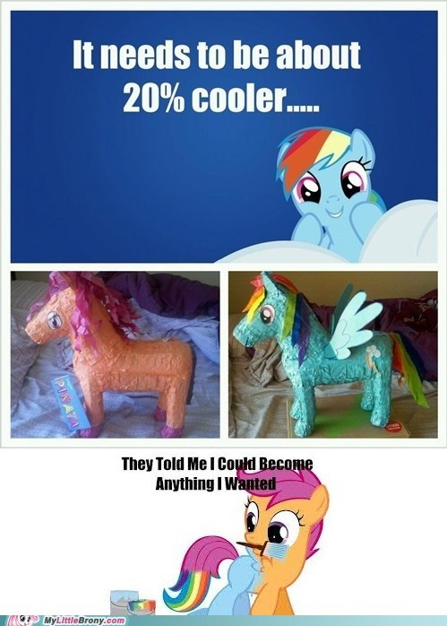 twenty percent cooler pinatas Scootaloo rainbow dash - 7361707264