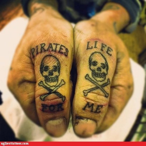 skull and bones hand tattoos pirates - 7362597376