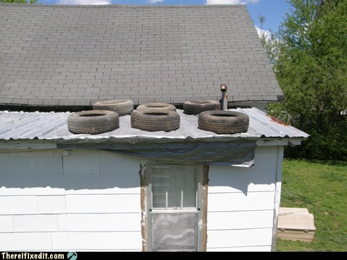 tires leaks roofs