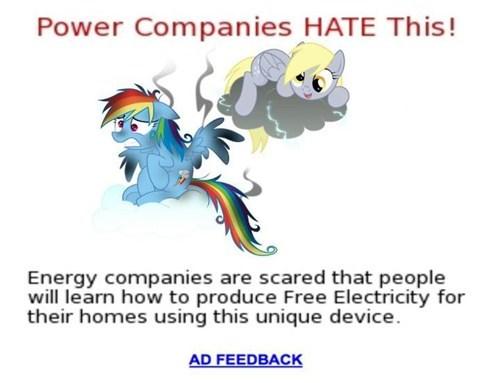 bloodythumbsup derpy hooves electricity - 7365072640