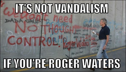 the wall,Roger Waters,vandalism