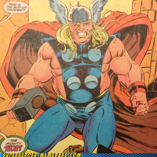 Thor fat off the page