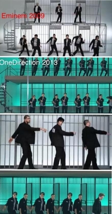 jailhouse rock,one direction,Elvis Presley,eminem