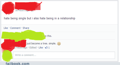 forever alone,relationships,become a tree,dating