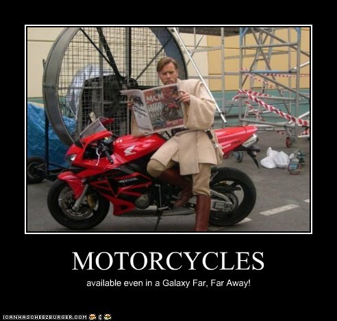 MOTORCYCLES available even in a Galaxy Far, Far Away!