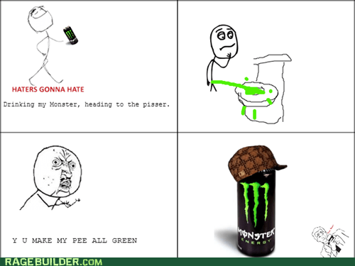 pee,green pee,energy drinks,monster energy