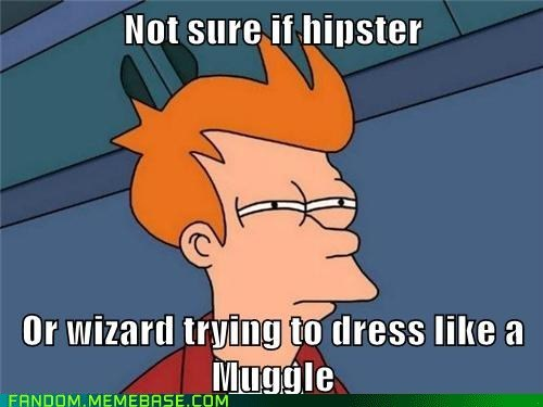 not sure if Harry Potter hipsters muggles - 7368712704