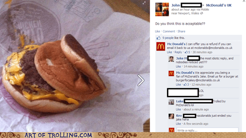 Trolled By Mcdonalds.