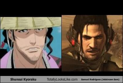Shunsui Kyoraku Totally Looks Like Samuel Rodrigues (Jetstream Sam)