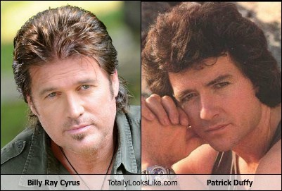 patrick duffy,Billy Ray Cyrus,totally looks like