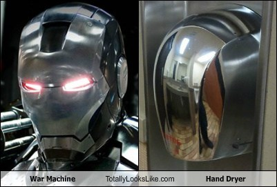 hand dryer,totally looks like,war machine