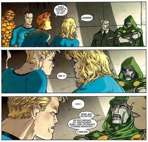 johnny storm,off the page,Fantastic Four,dr doom