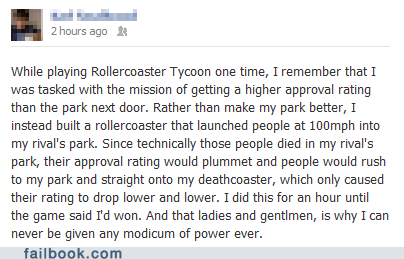 roller coaster tycoon,rollercoasters,failbook,g rated
