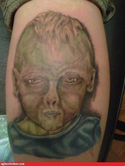 Babies,leg tattoos,zombie