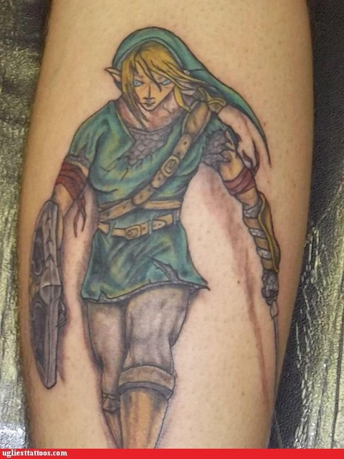 arm tattoos link the legend of zelda
