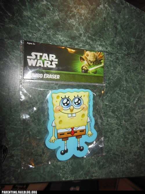 star wars jumbo eraser SpongeBob SquarePants - 7372805376