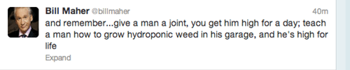 bill maher drugs marijuana - 7372993280