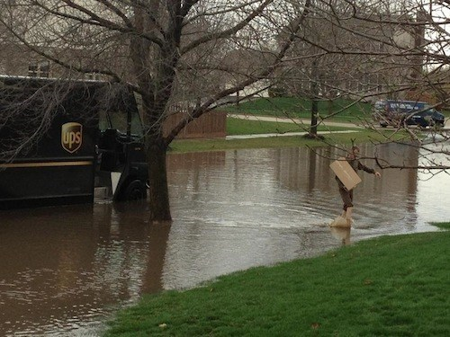 floods,deliveries,UPS