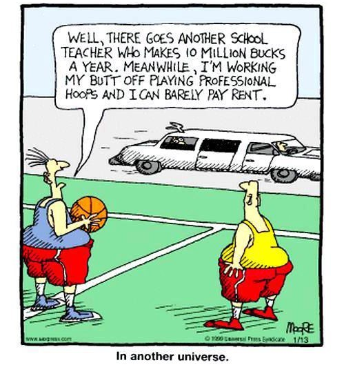 sports,salaries,comics,teachers,monday thru friday