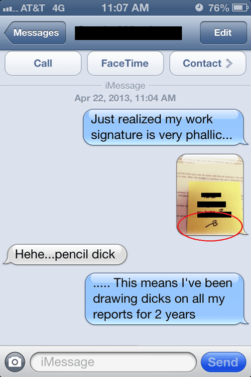 iPhones,signatures,text messages