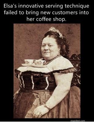 bustier tea cups waitresses - 7373232640