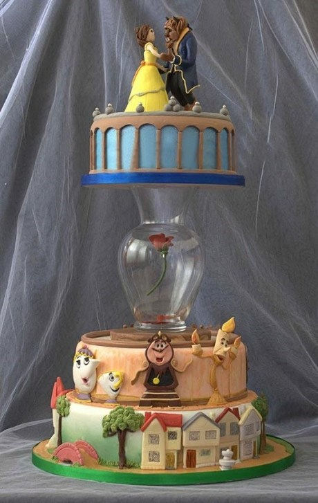 cake Beauty and the Beast disney