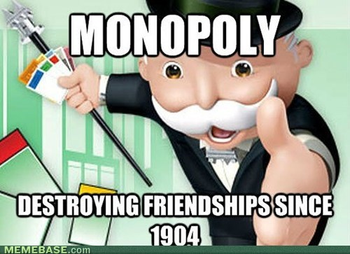 monopoly board games friendships - 7373543424