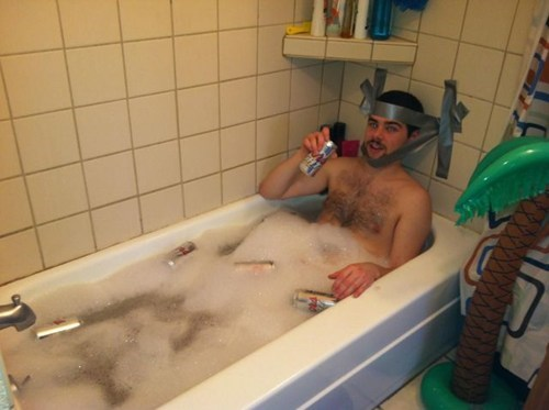 bathtubs,duct tape,drinking
