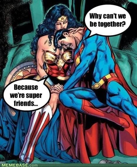 friend zoned wonder woman superman - 7373588480