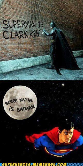 bruce wayne Clark Kent revealed secret identities - 7373669632