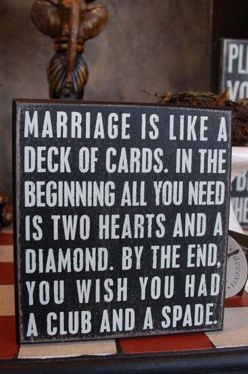 marriage diamonds cards hearts analogies