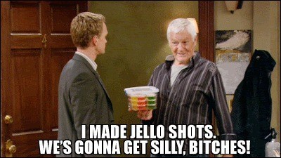 date night,how i met your mother,jello shots