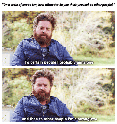 attractiveness,Zach Galifianakis,story of my life