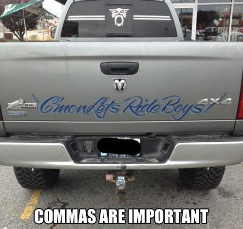 grammar IRL commas - 7373923584