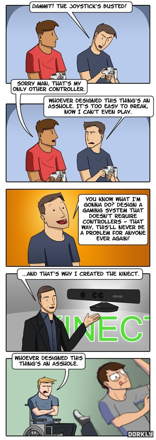 dorkly,comics,kinect,controllers