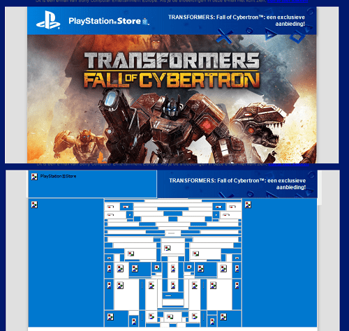 transformers playstation easter egg email Sony - 7374110720
