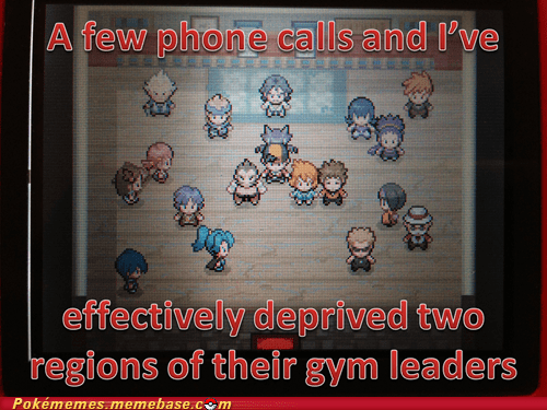 gym leaders,gameplay,phone calls