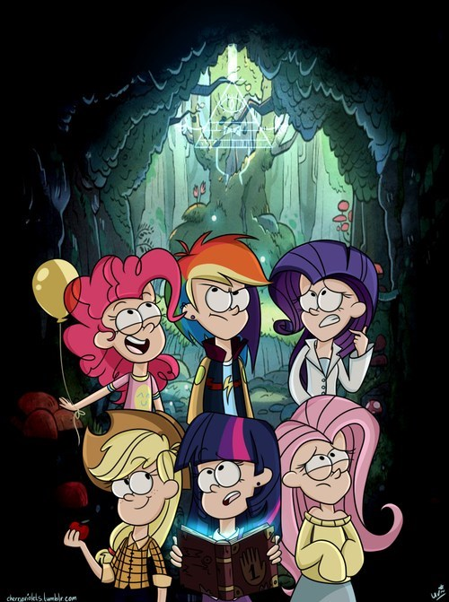 Bronies,crossover,gravity falls,my little pony,Fan Art