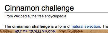 natural selection Darwin cinnamon challenge