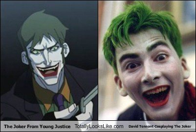 David Tennant,the joker,totally looks like