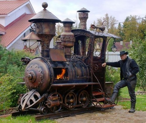 barbecue Steampunk custom DIY train g rated win - 7374891264