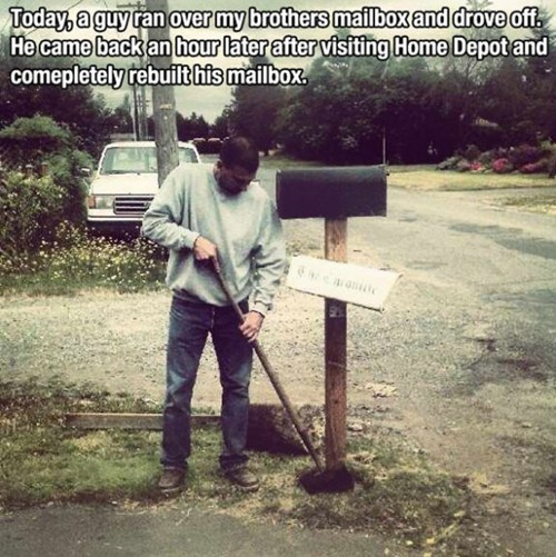 random act of kindness repairs mailbox restoring faith in humanity week g rated win - 7374913792