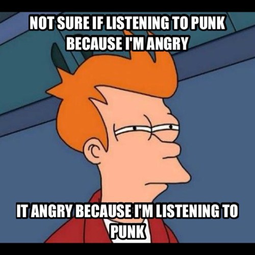 anger,futurama,punk