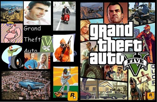 Animated cartoon - grand theFt auto Grand Theft GrvE Auto FIVE