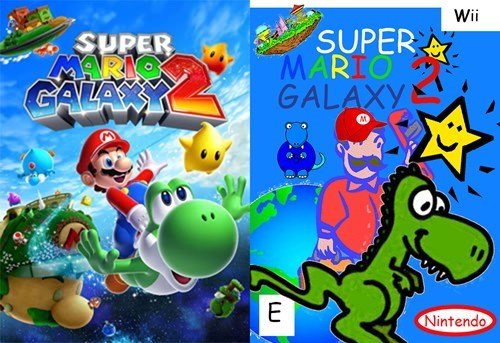 Cartoon - Wii SUPER MARIO GALAXY SUPER MARMO CALAY E Nintendo