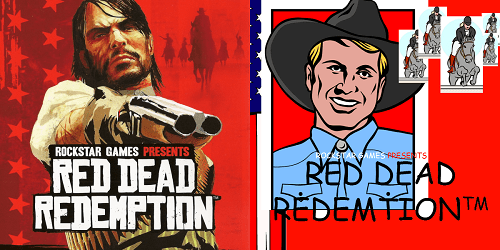 Poster - ROCKSTAR GAMES PRESENTS RoCkSARAMESARESE TS RED DEAD REDENPTION RED DEAD REDEMITONTM